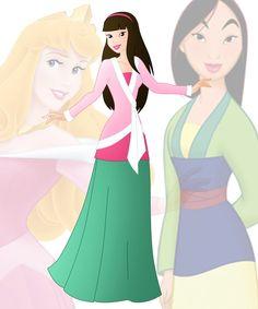 Mulan and Ariel