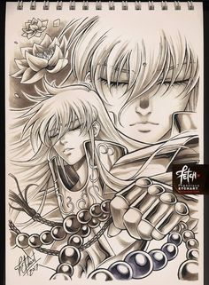 Impresionantes Dibujos de Los personajes de Saint Seiya The Lost Canvas.