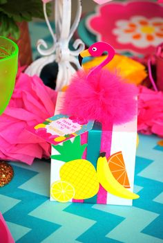 FLAMINGO Party - Flamingo Printables - Pineapple - Flamingo BURSTS