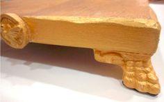 Pedestal - peça em madeira