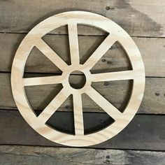 Wooden Pine Cutout, Wagon Wheel, Unfinished Wood Shape, DIY Craft – Keep up with the times. Diy Crafts To Do, Crafts For Teens To Make, Frame Crafts, Diy Arts And Crafts, Wood Crafts, Easy Crafts, Wooden Wheel, Wooden Wagon Wheels, Bois Diy