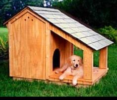 Wood Dog House Plans   How To build a Easy DIY Woodworking    Dog house
