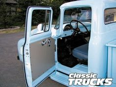 """Presentation """"Looking and learning"""" - Ford Truck Enthusiasts Forums 1956 Ford Pickup, 1956 Ford Truck, 32 Ford, Ford Trucks, Pickup Trucks, Interior Presentation, 1956 Ford F100, Truck Interior, Slammed"""