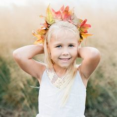 Stringing together flower crowns is a spring and summer tradition with our kids, and we're so excited to have discovered a way to keep this favorite activity going in the fall thanks to our friends at Beijos Events.