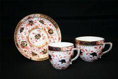 Royal Crown Derby Imari Trio - pattern 1533 - dated 1884
