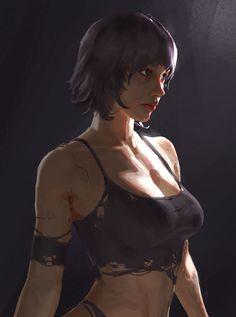 realistic portrait w strong key light Bd Pop Art, Bd Art, Fantasy Art Women, Fantasy Girl, Art Anime, Anime Art Girl, Female Character Design, Character Art, 3d Foto