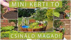 DIY: miniature garden with pond | Csináld magad: mini kert mini tóval