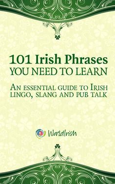 Buy 101 Irish Phrases You Need To Know: An essential guide to Irish lingo, slang and pub talk by Blathnaid Healy, Mark Farrelly and Read this Book on Kobo's Free Apps. Discover Kobo's Vast Collection of Ebooks and Audiobooks Today - Over 4 Million Titles! Dublin, Ireland Vacation, Ireland Travel, Galway Ireland, Irish Quotes, Irish Sayings, Gaelic Quotes, Scottish Quotes, Irish Language