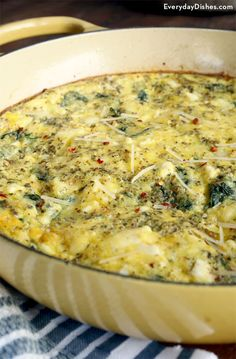 The last thing you want to do is spend hours in the kitchen preparing a simple meal for your family during a busy weekend or workweek. And while we hate the world 'gourmet', we will say even though this dish appears to be on the 'fancy' side, preparation for our light and fluffy spinach and feta frittata recipe couldn't be easier!