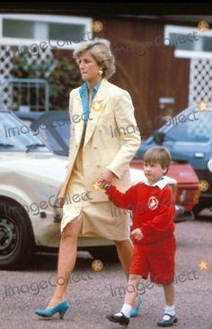 Princess Diana and Prince William - princess-diana-and-her-sons Photo