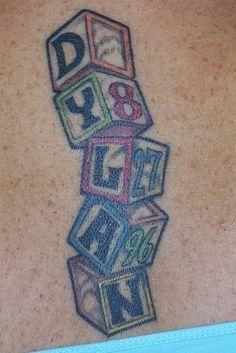 ... fav tattoos baby blocks block tattoos tattoos piercings tattoo design