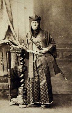 A Samurai taken between 1860 and 1880.
