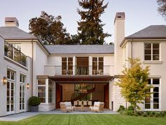 Backside of home with Southern porch area made of flagstone terrace and outdoor . Backside of home Architecture Design, Southern Porches, Country Porches, Home Modern, Porch Area, Traditional Exterior, Traditional Staircase, Dream House Exterior, House Goals