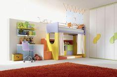 camerette con letti a castello - arredamento cucine moderne Ernestomeda e camerette cityline