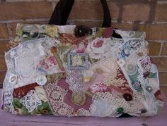 Handbag Purse Carpetbag style handbag Large by VioletRose1930, $399.00