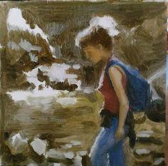 Dalia - oil on panel 17x17cm