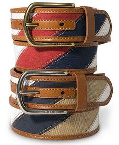Help him unleash his inner sailor with a nautical striped belt from Tommy Hilfiger Best Leather Belt, Leather Cuffs, Leather Belts, Men's Belts, Tommy Hilfiger Belt, Mens Fashion Suits, Fashion Accessories, Electrical Transformers, Moda Masculina