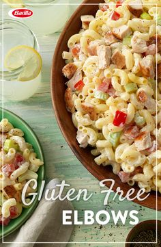 Get ready for seconds with this amazing gluten free pasta recipe that's perfect for entertaining. Gluten Free Elbows tossed with sauce and veggies, topped off with grilled chicken in 25 minutes or less!