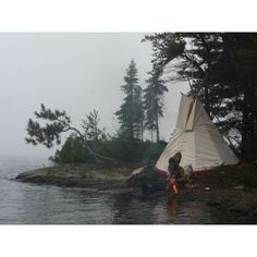 Heritage Camping in Canada, No Hardship Required ❤ liked on Polyvore featuring backgrounds, photos and pictures
