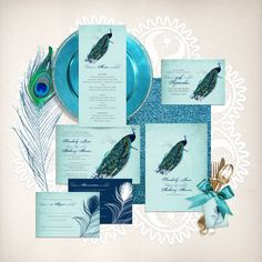 vintage peacock wedding stationery set invitation suite printable files bird feather diy invite reception or ceremony package blue turquoise by idoityourself on Etsy https://www.etsy.com/au/listing/213907285/vintage-peacock-wedding-stationery-set