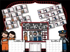Cops, Crooks, & Coins  Math Money Task Cards  2nd Grade Common Core Aligned  Creekside Teacher Tales