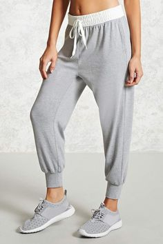 FOREVER 21 Active Contrast Waist Joggers, #ad