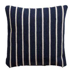 @Julie Babin  Navy Striped Wool Pillow - Ethan Allen US