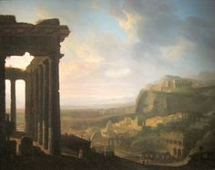 Fine Art Print-Ruins of an Ancient City, c. 1810 - Creator: John Martin (British, Fine Art Print on Paper made in the UK Ancient Rome, Ancient Art, Ancient Greek, Ruined City, City C, Romantic Paintings, Tate Gallery, Cleveland Museum Of Art, John Martin