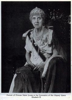 Retrato de la Princesa Marie Louise  en la coronación de la Reina Elisabeth II