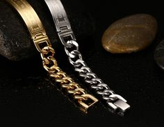18k gold plated bracelets bangles fashion men jewelry jesus cross stainless steel personalized charm man gifts Oh just take a look at this! #Jewelry #shop #beauty #Woman's fashion #Products