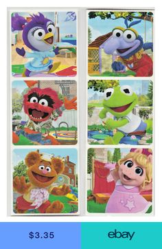 25 Muppet Babies Stickers, x each, Party Favors Muppet Babies, Movie Party Favors, Candy Party, Disney Mickey Mouse Clubhouse, Baby Candy, Goodie Bags For Kids, Mickey Mouse Ears Headband, The Muppet Show, Baby Stickers
