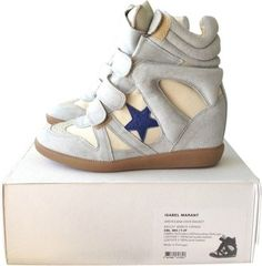 f13367c81fa3 Isabel Marant Blue 2013 Bayley Over Basket Ciel Star Wedge High Top Sneakers  37 Sneakers Size US 7 Regular (M