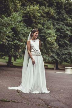 Anaïs vestida por Carmen Soto, del atelier de The Bride