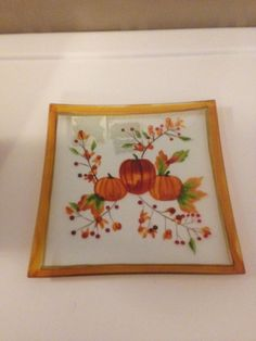 Yankee Candle Pumpkin Crackle Large Jar Shade and Plate Great for Fall RARE | eBay