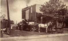 In Lorain, OH, another moving company using a Dray. Horse Drawn, Barbour, A Team, October, Horses, Collection, Horse