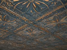 Faux Tin Ceiling Tile Td10 Graphite Gold A Need For The Kitchen Tiles