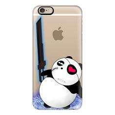 iPhone 6 Plus/6/5/5s/5c Case - Eye paatch PANDA MAKEN ($40) ❤ liked on Polyvore featuring accessories, tech accessories, iphone case, apple iphone cases and iphone cover case