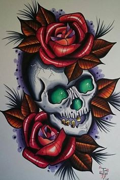 Lessons That Will Get You In The arms of The Man You love Sketch Tattoo Design, Skull Tattoo Design, Skull Tattoos, Body Art Tattoos, Sleeve Tattoos, Traditional Tattoo Flowers, Neo Traditional Tattoo, Catrina Tattoo, Old School Tattoo Designs
