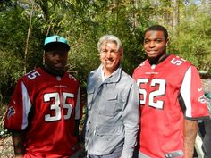 With Akeem Dent and Antone Smith of the Atlanta Falcons at yesterday's ribbon cutting!