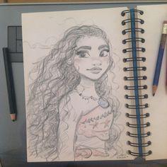 Quick doodle of Disney's Moana / Vaiana while working on My french comic Bichon… https://www.facebook.com/artofdavidgilson/ Moana drawing omg i love this guys ❤ #moana #disney #fanart #vaiana