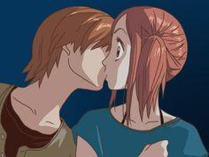 Lovely Complex: Atsushi Otani x Risa Koizumi Anime Love Couple, Cute Anime Couples, I Love Anime, Anime Guys, Awesome Anime, Chica Anime Manga, Anime Art, Manga Girl, Koizumi Risa