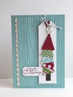 scrapbooking idea for christmas card ♥