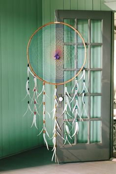 XXL Natural Dreamcatcher made from bamboo // Earthbound Trading Co