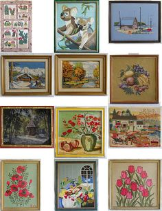 Large selection vintage needlepoint #needlework Original art for sale, over 100 framed and unframed  http://www.ebay.com/sch/m.html?_odkw=needlework&_ssn=haillais&_armrs=1&_osacat=0&_ipg=25&_from=R40&_trksid=p2046732.m570.l1313.TR0.TRC0.H0.X%28needlework%2Cneedlepoint%29.TRS1&_nkw=%28needlework%2Cneedlepoint%29&_sacat=0
