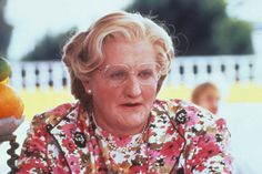 Role of a lifetime: Robin Williams film Mrs Doubtfire, in which he played a nanny in drag, was a huge critical success, second only to Juras. Robin Williams Son, Robin Williams Movies, Robbie Williams, Mrs Doubtfire Movie, Madame Doubtfire, Mork & Mindy, Thing 1, Best Supporting Actor, Stand Up Comedy