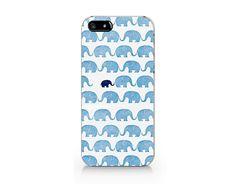 Min blue elephant phone case for iP4/5/5C/6/6plus from Emerishop by DaWanda.com