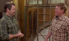 Actor and woodworker Nick Offerman shares with Ask This Old House host Kevin O'Connor where his love of woodworking began and offers advice for young people who want to work with their hands Nick Offerman Woodworking, Mission Style Homes, Craftsman Style, Get The Look, New Homes, House Ideas, Men Casual, Advice, Crafty