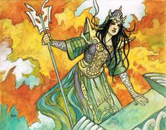 """""""Manto Keldon"""" Original acryligouache illustration for a Magic The Gathering card by Rebecca Guay available at the R. Michelson Galleries."""
