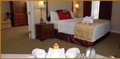 King Suite Jacuzzi Bedroom
