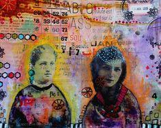 couleurs et mixed media: Art-Journal 2015 - Thème 17 - Tutoriel Portraits